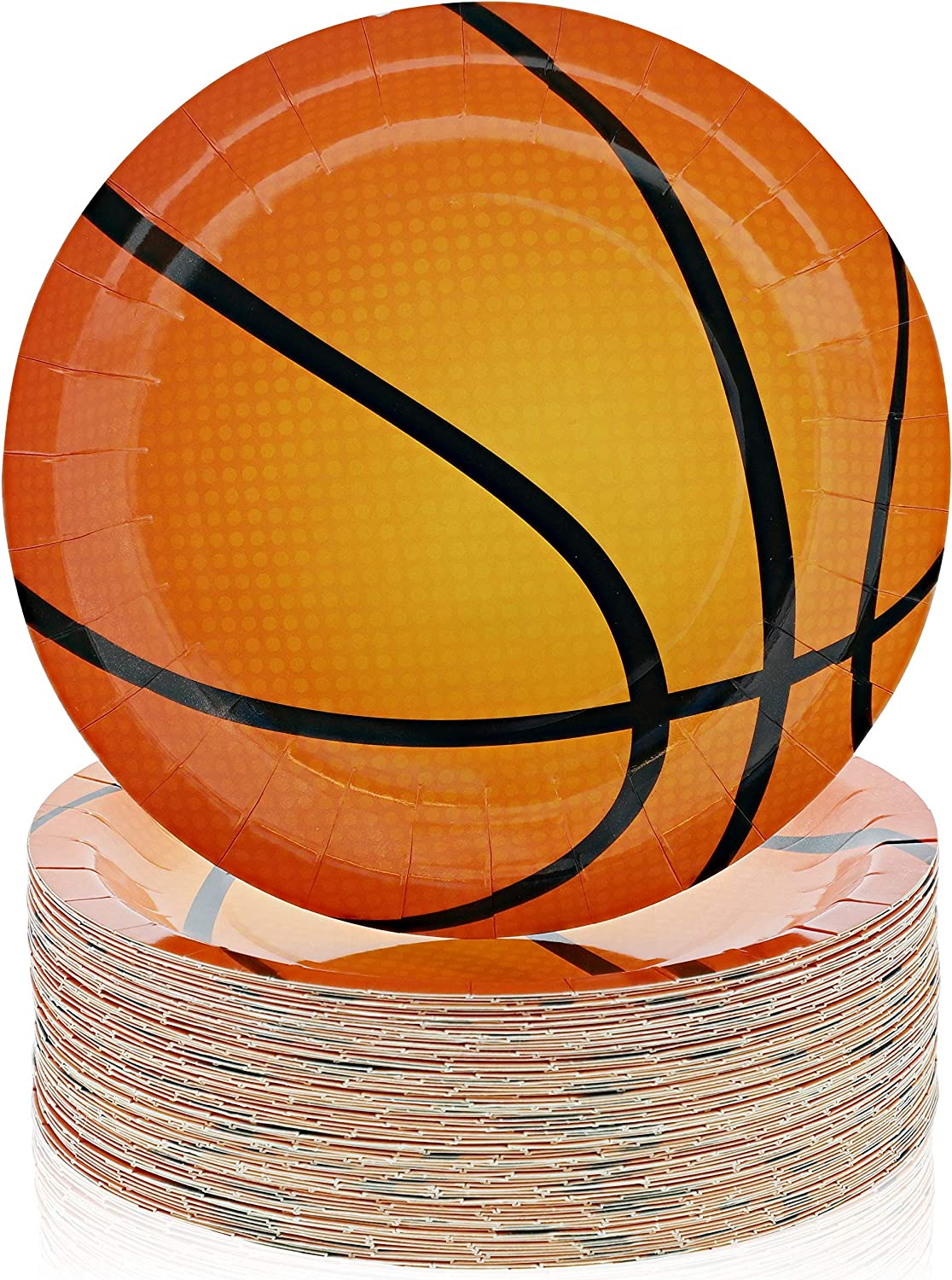 Basketball Party Paper Plates