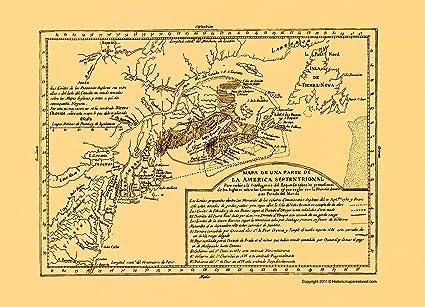 North America Map 1750.Amazon Com Old Revolutionary War Map North America Septentrional