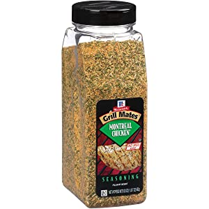 McCormick Grill Mates Montreal Chicken Seasoning (Features a Savory Blend of All-Natural Herbs and Spices Like Garlic, Salt, Onion, Orange Peel, Paprika and Green Bell Pepper, Certified Kosher), 23 oz