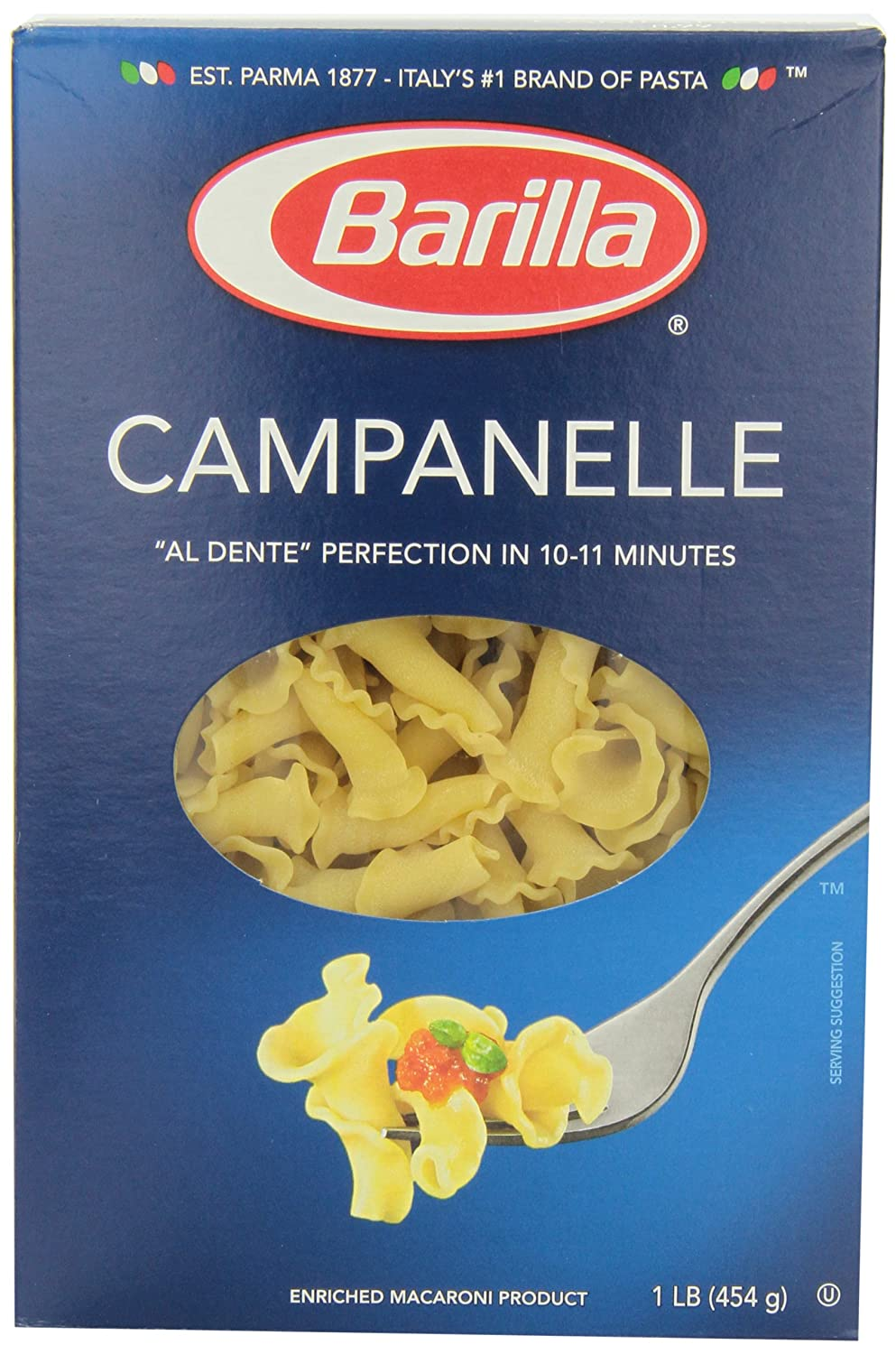 com barilla pasta campanelle 16 ounce pack of 12  com barilla pasta campanelle 16 ounce pack of 12 italian pasta grocery gourmet food