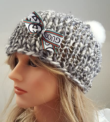 49042c8fe24 Amazon.com  Knit GUCCI inspired Bow hat. Made by Bead Gs on AMAZON. Ladies  Size.  Handmade