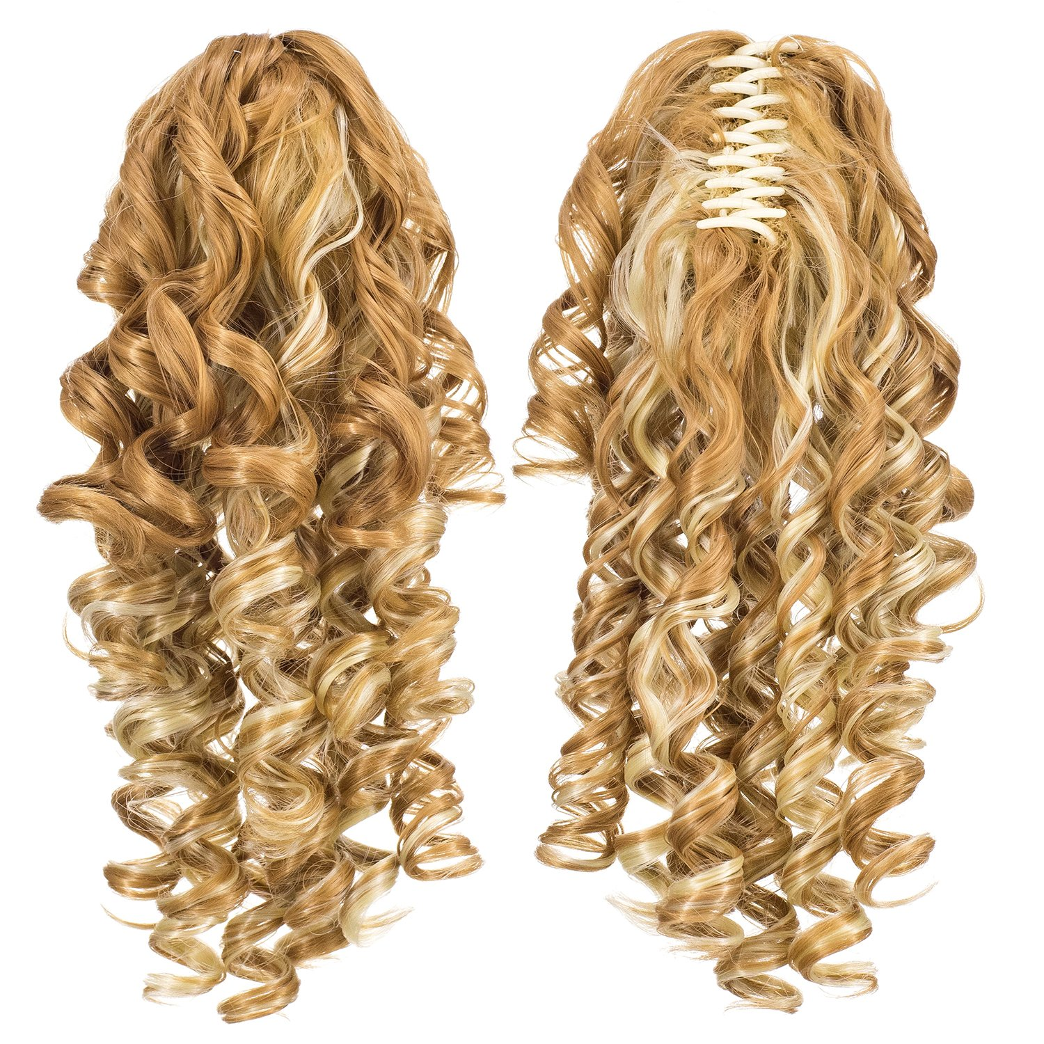 Amazon Spiral Curly Hair Piece Blonde Mix Ponytail Irish Dance