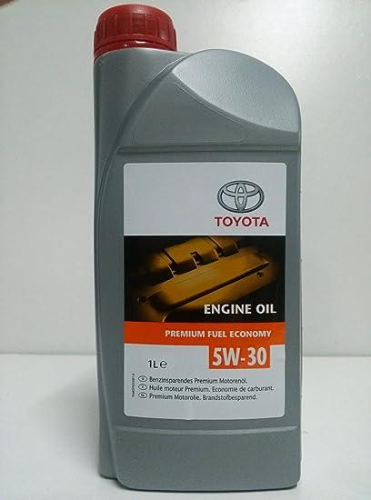 Toyota - Envase de 1 litro de aceite 5w-30 original: Amazon.es ...