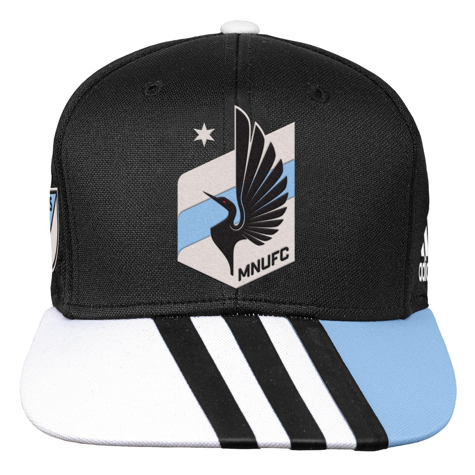 Outerstuff MLS Minnesota United R S8FMK Youth Boys Flatbrim Snapback, One Size (8), Black