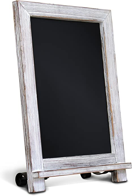 Amazon Com Rustic Whitewash Tabletop Chalkboard Sign Hanging Magnetic Wall Chalkboard Small Countertop Chalkboard Easel Kitchen Countertop Memo Board 9 5 X 14 Weddings Birthdays Baby Announcements Home Kitchen