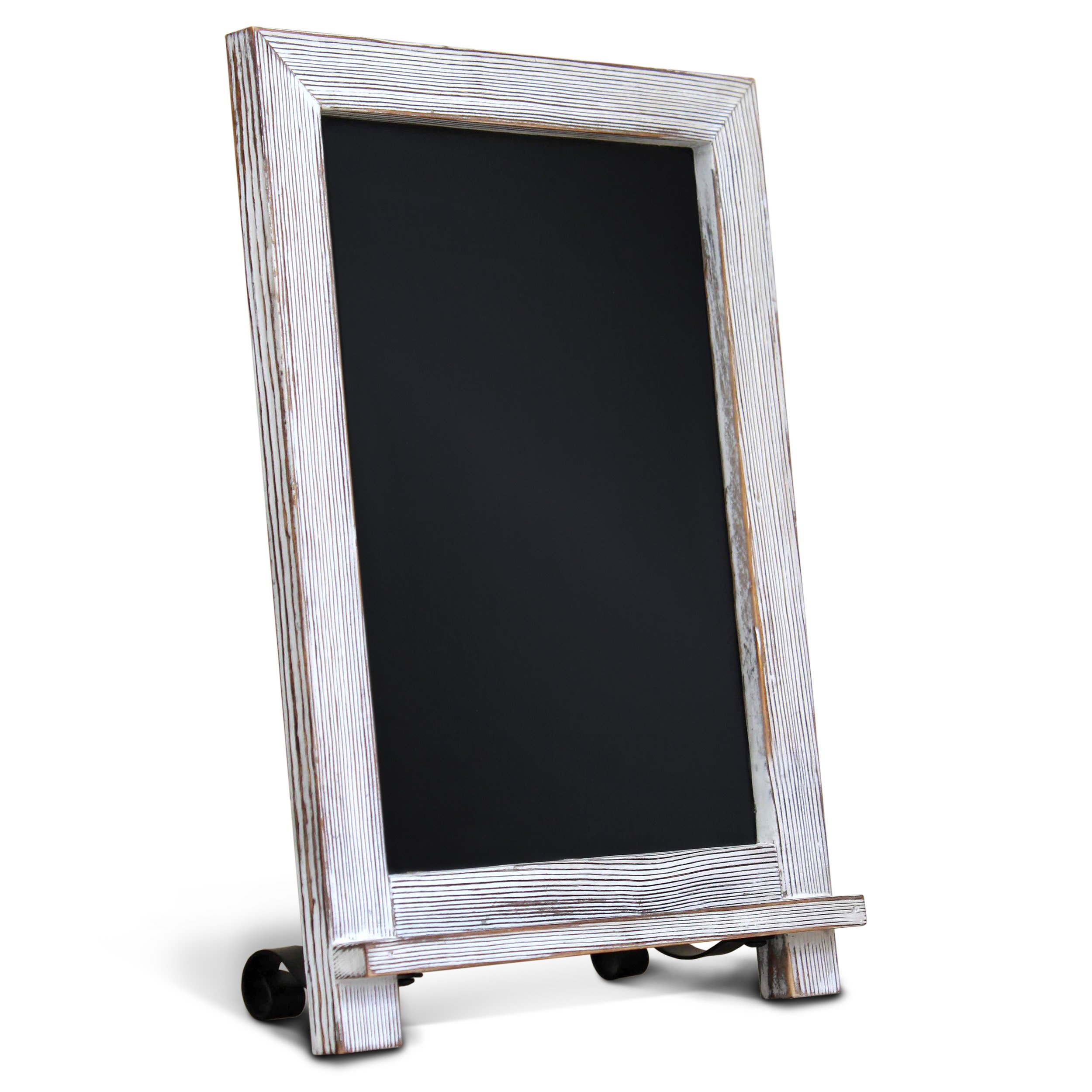 Rustic Whitewash Tabletop Chalkboard Sign / Hanging Magnetic Wall Chalkboard / Small Countertop Chalkboard Easel / Kitchen Countertop Memo Board / 9.5'' x 14'' . Weddings, Birthdays, Baby Announcements by HBCY Creations