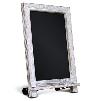 amazon com rustic whitewash tabletop chalkboard sign hanging rh amazon com
