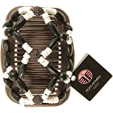 Best bun hair accessories for Women - Amazing with hair extensions - fancier than bows - bun hair accessory can be used with other hair products - best hair clips for girls - teens - beautiful set of combs - crystals - rhinestone and silver plated metal beads make this decorative clip great for weddings - bridal updos - great way of styling your hair - KOOL KOMBZ - SALE !