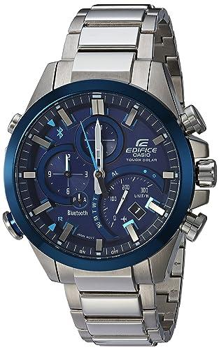 Casio Edifice eqb500db-2 a funciona con energía solar Mobile Link reloj azul Dial Acero inoxidable: Casio - Edifice: Amazon.es: Relojes