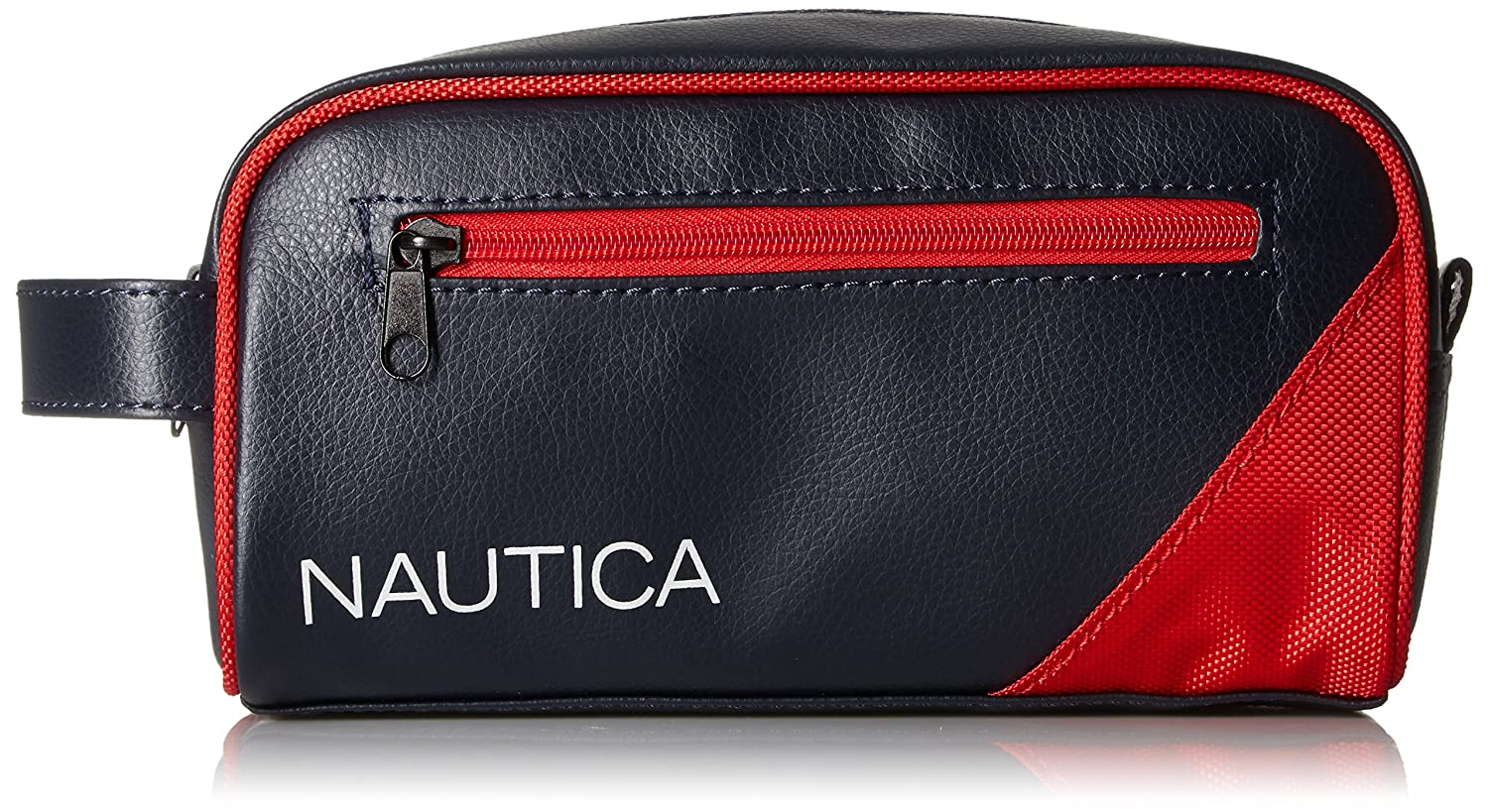 Nautica Mens Top Zip Travel Kit Toiletry Bag Organizer