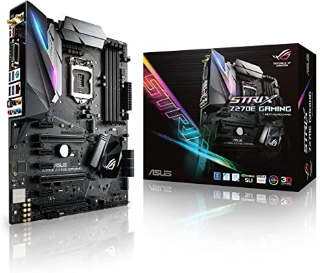 Asus ROG Strix Z270E Gaming - Placa Base para Gaming (4 x PCIe 3.0, chipset Z270, LGA 1151, 6 x SATA III, WiFi,HDMI, 6 x USB 3.0, Intel HD Graphics, DDR4-3866 MHz): Asustek: Amazon.es: Informática