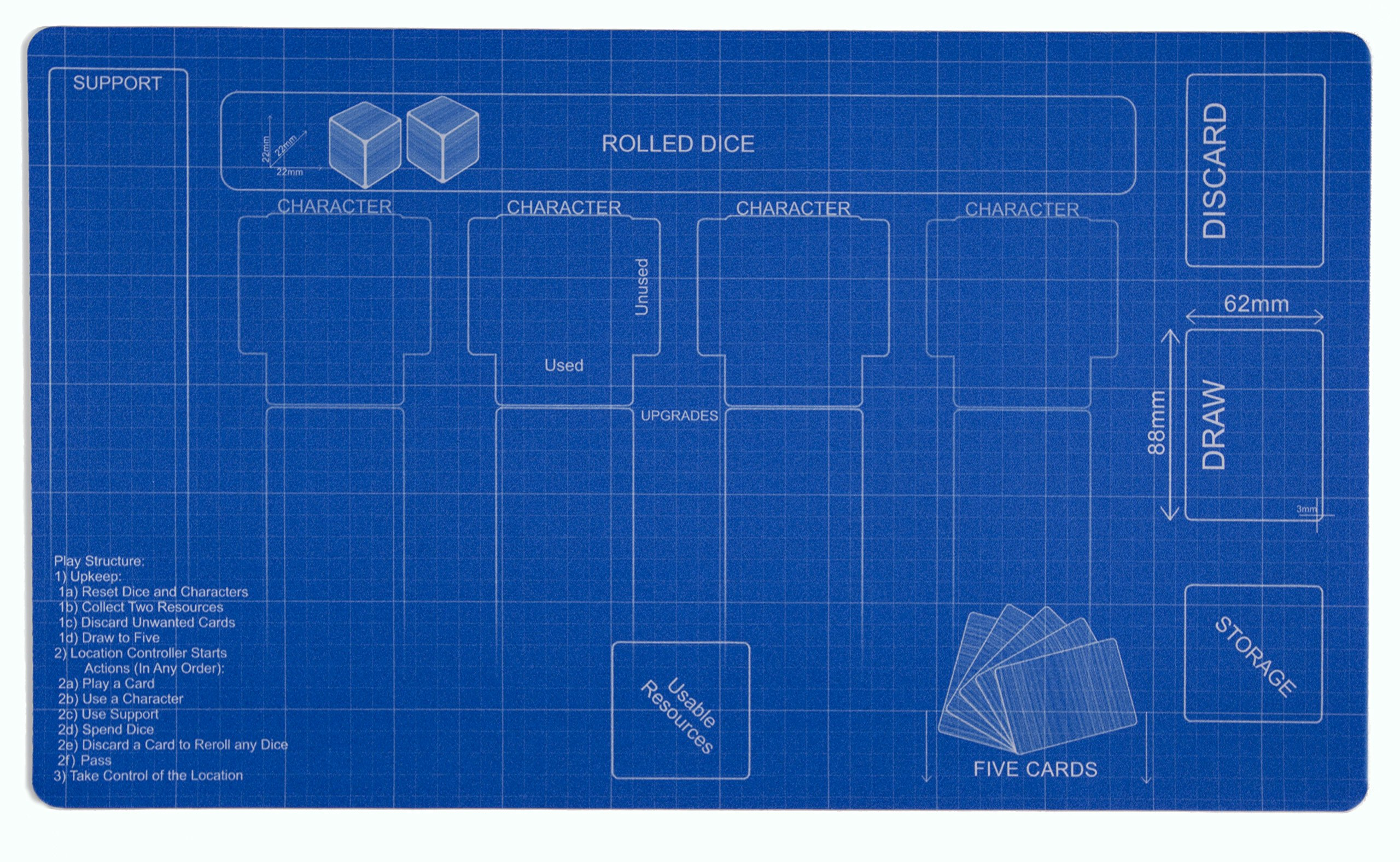 Blueprint Destiny Playmat Inked Gaming - Inked Playmats / Perfect for Star Wars Destiny SWD TCG Game Mat