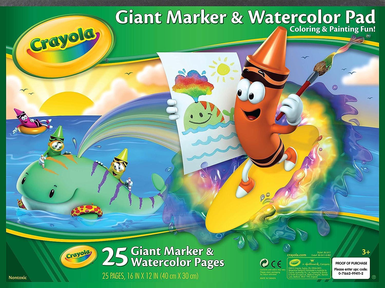 Crayola Marker /& Watercolor Pad 16X12-25 Sheets