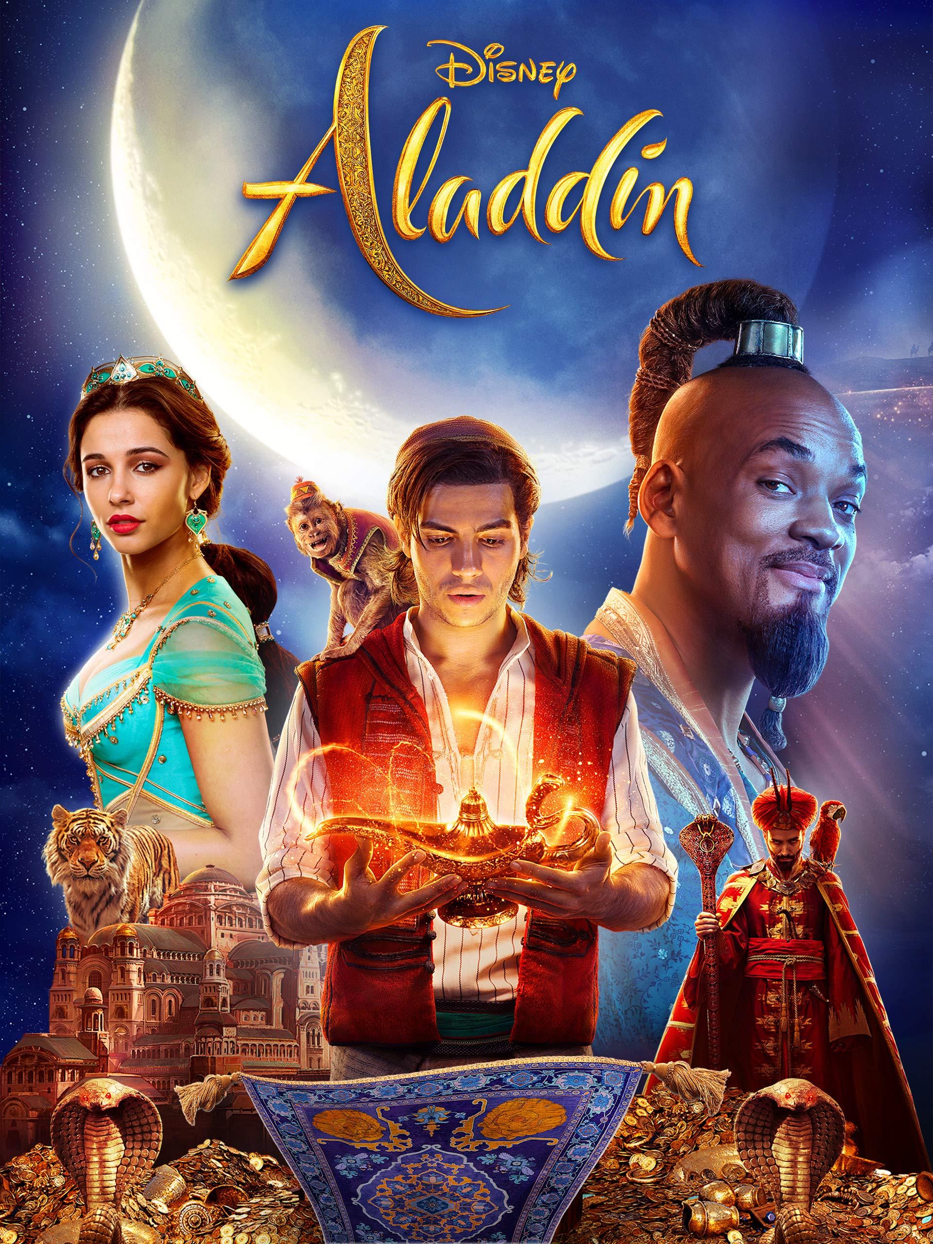 Amazon.com: Aladdin: Will Smith, Mena Massoud, Naomi Scott, Marwan ...