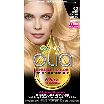 Garnier Olia Hair Color, 9.3 Light Golden Blonde, Ammonia Free Blonde Hair  Dye ( Pictures