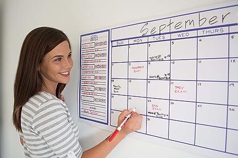 amazon com dry erase calendar for wall calendar whiteboard with