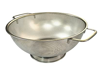 Micro Perforated Stainless Steel Colander 5 Quart Dishwasher Safe