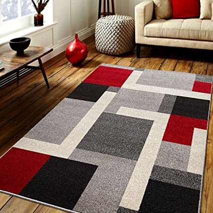 Amazon Com Prestige Decor Area Rugs Cosi Collection Gray Area Rug