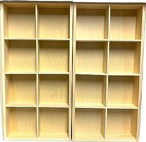 Eledoll Dollhouse Furniture Wood Grid Shelf Doll Furniture for Collectible Miniatures 1:6 Scale 11.5 inch Fashion Doll Wardrobe DIY Dollhouse 32.5 cm 12 6/8