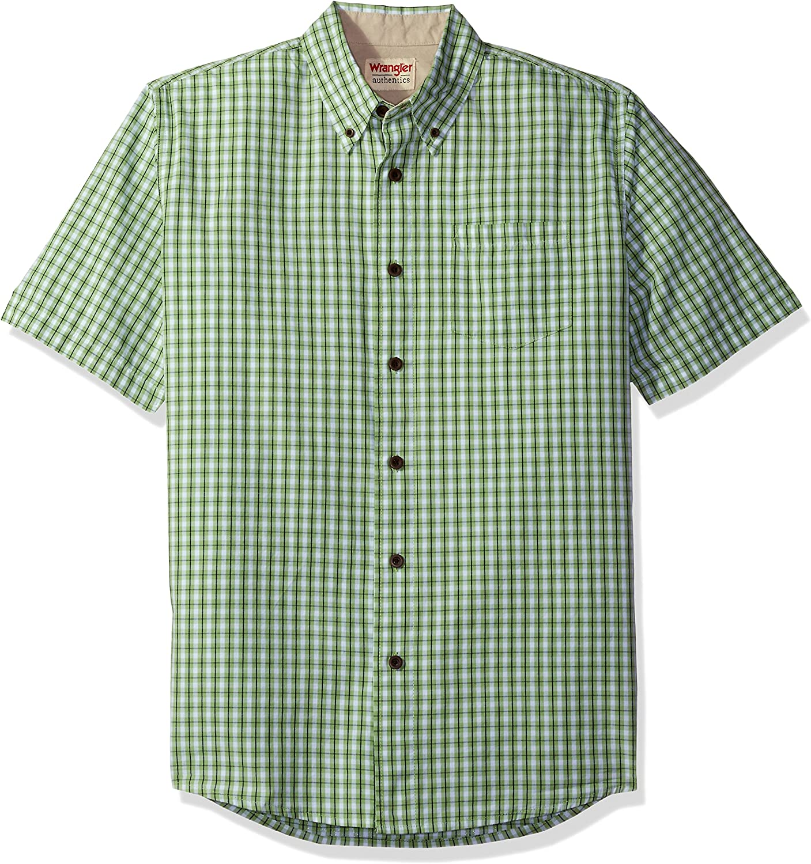 Wrangler Authentics Short Sleeve Classic Plaid Shirt