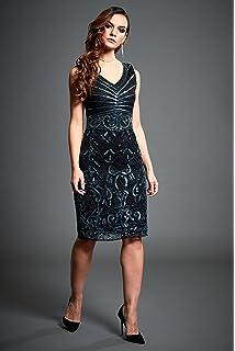Victoria – Black Short Embellished 20S Flapper Wedding Guest Dress