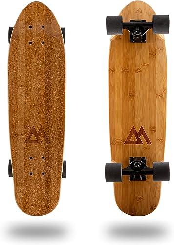 Magneto Mini Cruiser Skateboard Cruiser Short Board Canadian Maple Deck – Designed for Kids, Teens and Adults