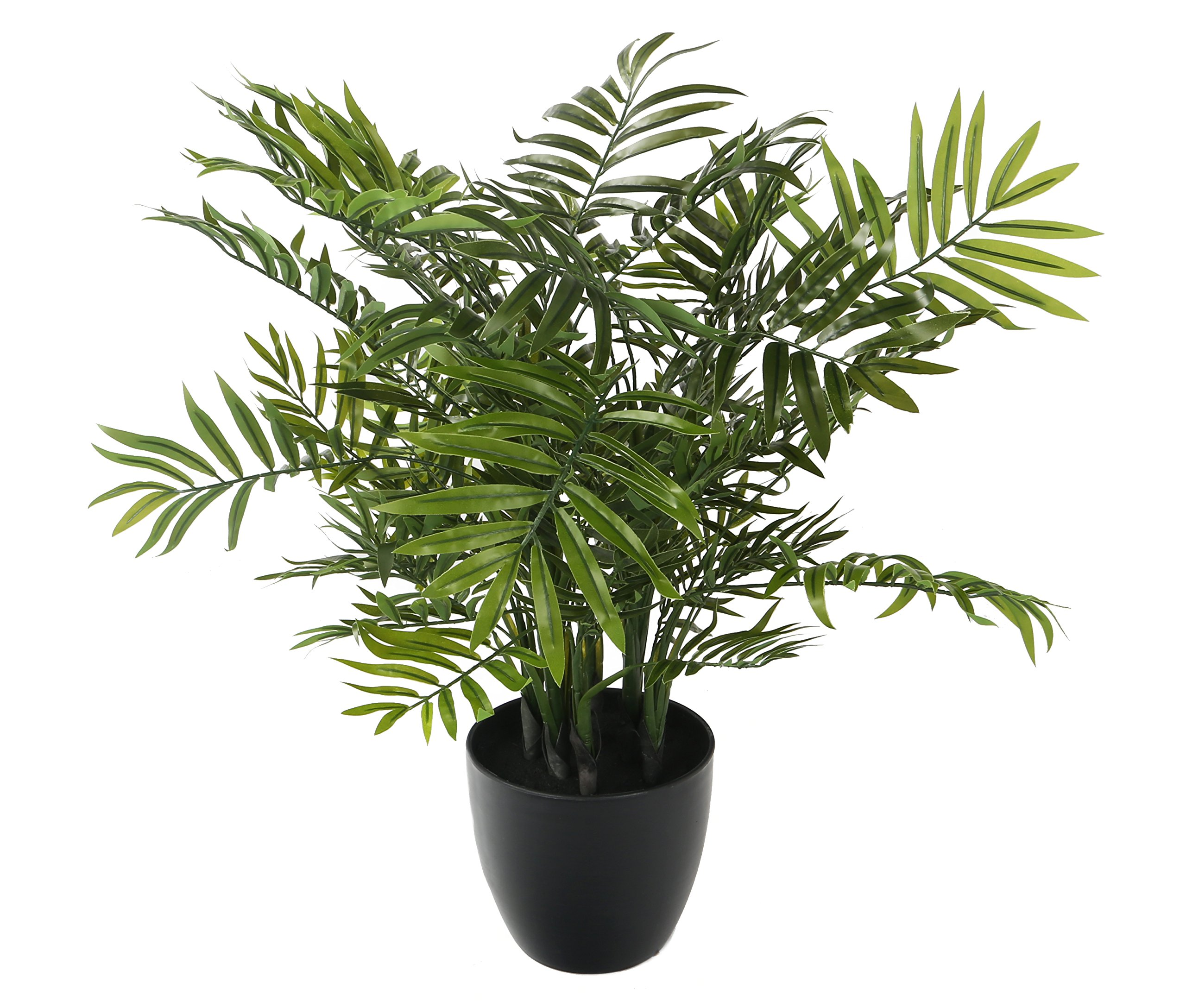 Closer2Nature Artificial 2ft 5'' Bamboo Palm Tree in a Decorative Black Pot by Closer2Nature
