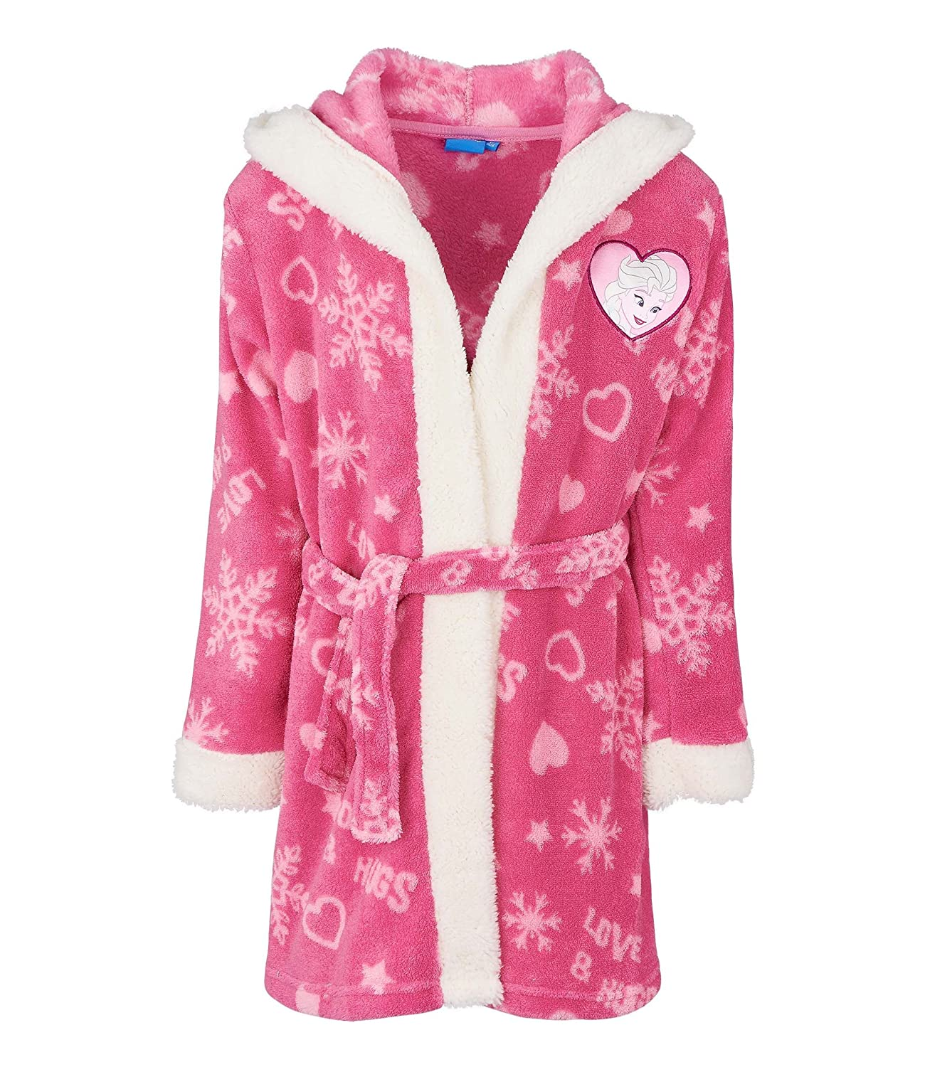 Disney Frozen Coral Fleece Bathrobe with Hood, Pink