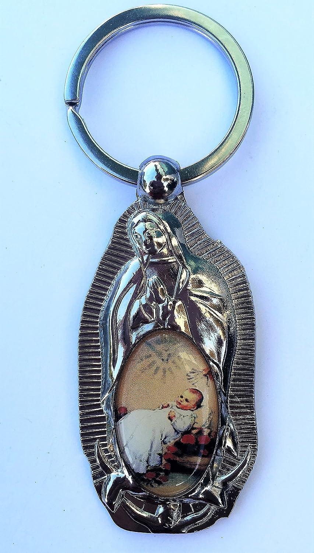 12 pcs Virgen De Guadalupe keychain Baptism Firts Communion BOY/GIRL favor-Recuerdos de mi Bautizo/primera comunion-llaveros