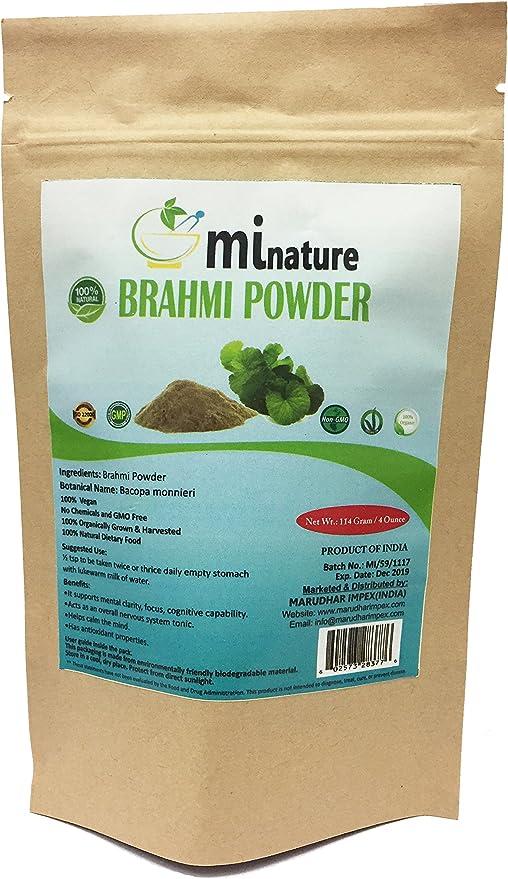 Mi naturaleza Brahmi polvo orgánico (Bacopa - Monnieri) (100 ...