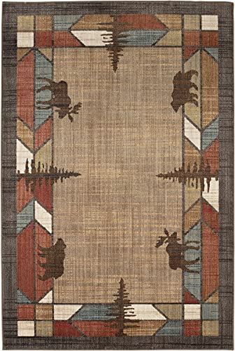 Mohawk Destinations Butte Multicolor Southwest Woven Area Rug, 5 3×7 10, Tan