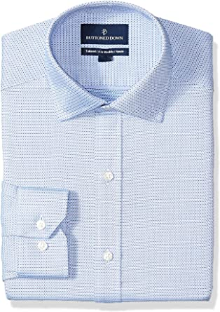 Buttoned Down Tailored Fit Spread-Collar Pattern Non-Iron Dress Shirt Hombre: Amazon.es: Ropa y accesorios