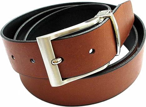 Cinturón de piel Reversible para hombre - Hecho a mano con piel de alta calidad en España - Cinturón 2 en 1: Marrón y Negro: Amazon.es: Ropa y accesorios
