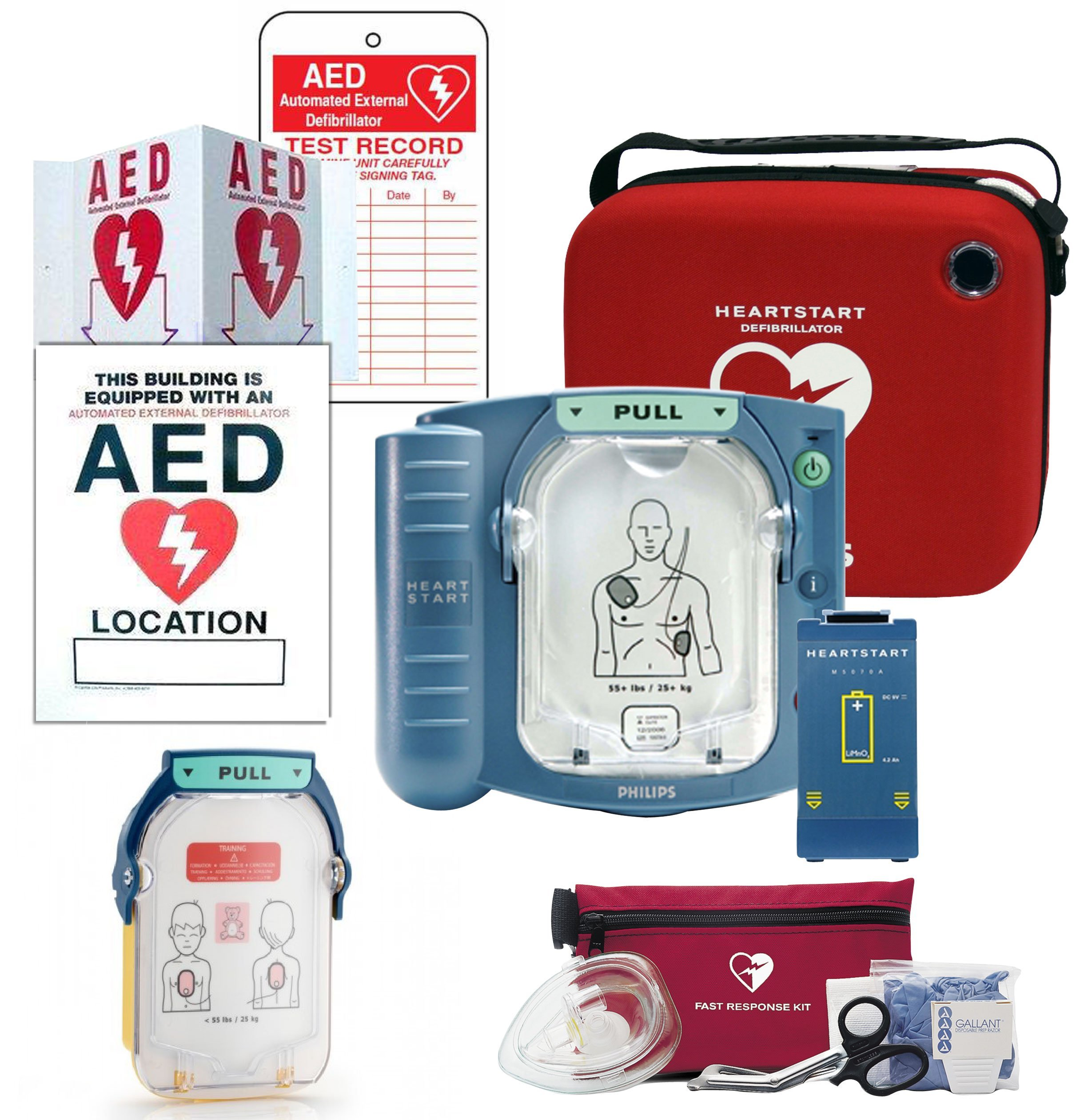 Philips OnSite AED Portable Community Bundle - 8 items