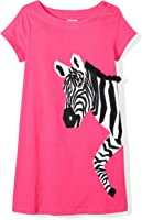 Amazon Brand - Spotted Zebra Girls' Toddler & Kids Knit Short-Sleeve A-Line T-Shirt Dresses