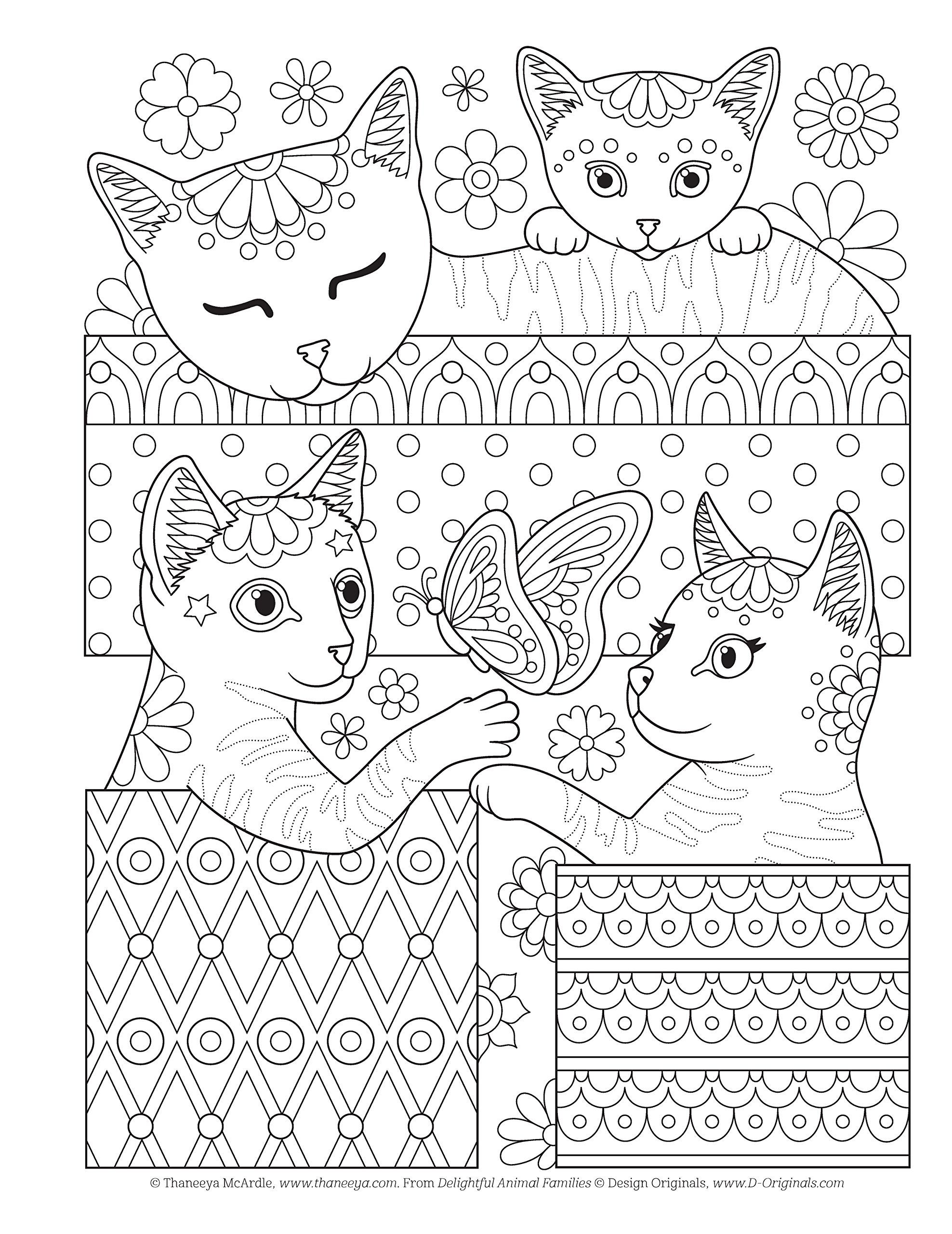 Amazoncom Delightful Animal Families Craft Pattern Color Chill 91xiSTpfQ1L 1497203333 Crafting Groovy Coloring Pages 7