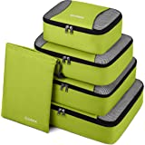 Gonex Packing Cubes Travel Luggage Organizer with Shoe Bag (Light Green)