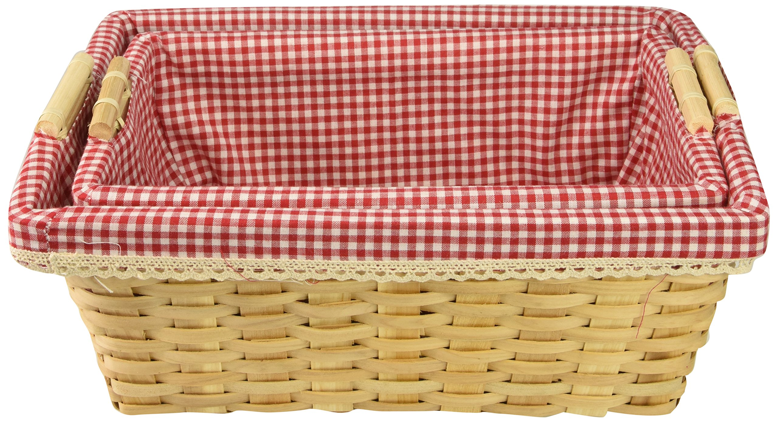 Vintiquewise(TM) Gingham Lined Baskets Set of 2 by Vintiquewise (Image #2)