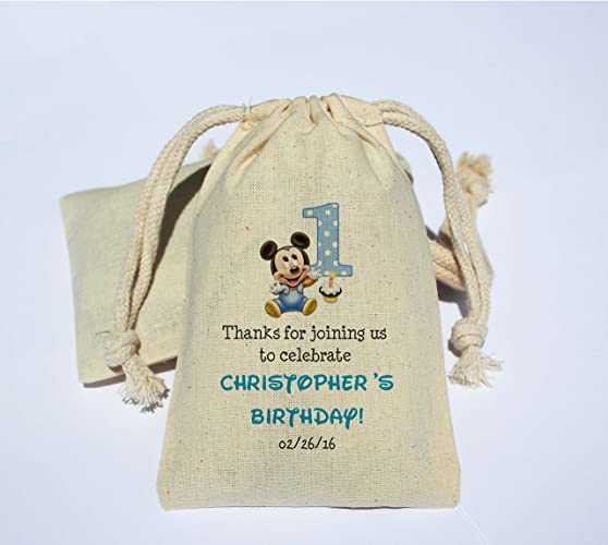Cotton Muslin Birthday Party Favor Bag