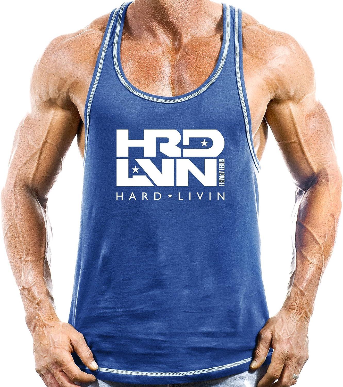 Monsta Clothing Co. Men's Workout (HardLivin HRD-LVN) Fitness Gym Racerback Tank 91xicjdgCgL
