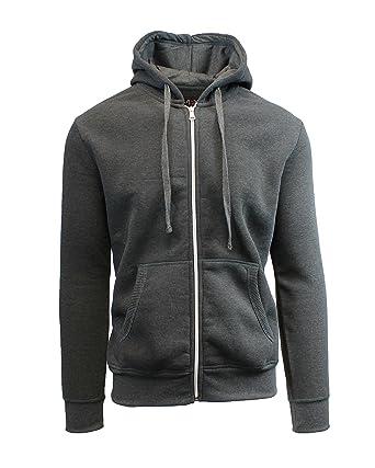 Galaxy By Harvic Mens Full Zip Fleece Hooded Sweatshirt at Amazon ...