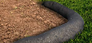 Silt Sock for Sediment and Erosion Control by New Pig - Divert, control, and trap sediment and debris, Black 10' L - PMB30031