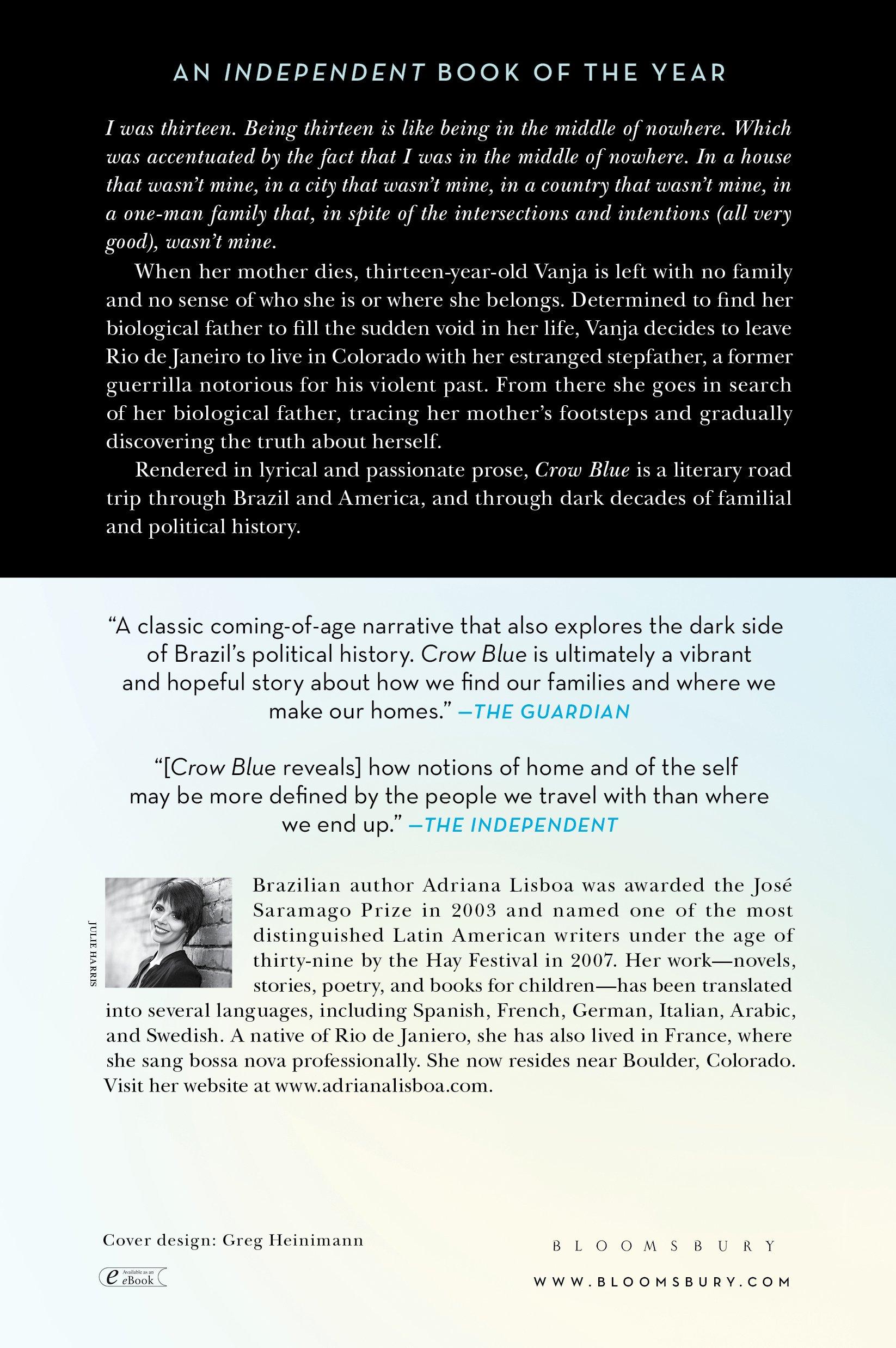 Crow Blue: A Novel: Adriana Lisboa, Alison Entrekin: 9781620403365:  Amazon: Books