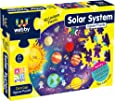 Webby Amazing Solar System Jigsaw Floor Puzzle 60 Pcs with 4 Double Sided Flashcards