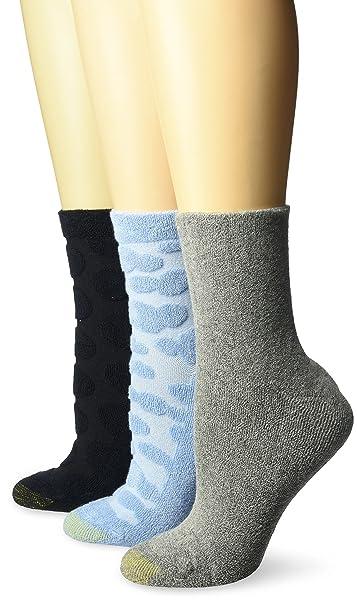 Gold Toe Women S Ultra Soft Walking On Clouds Cushion Crew Socks 3 Pairs