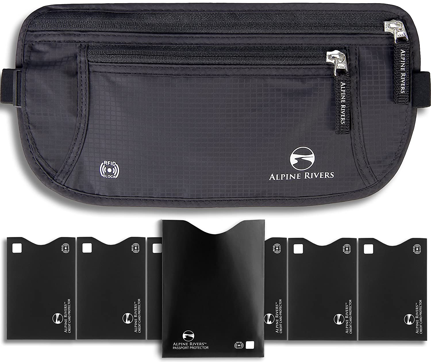 Money Belt for Travelling - Hidden Security Pouch for Cards and Passports -  High Quality RFID Waterproof Breathable Material - Protect your Cash and  Conceal ... 097ee8f6edba