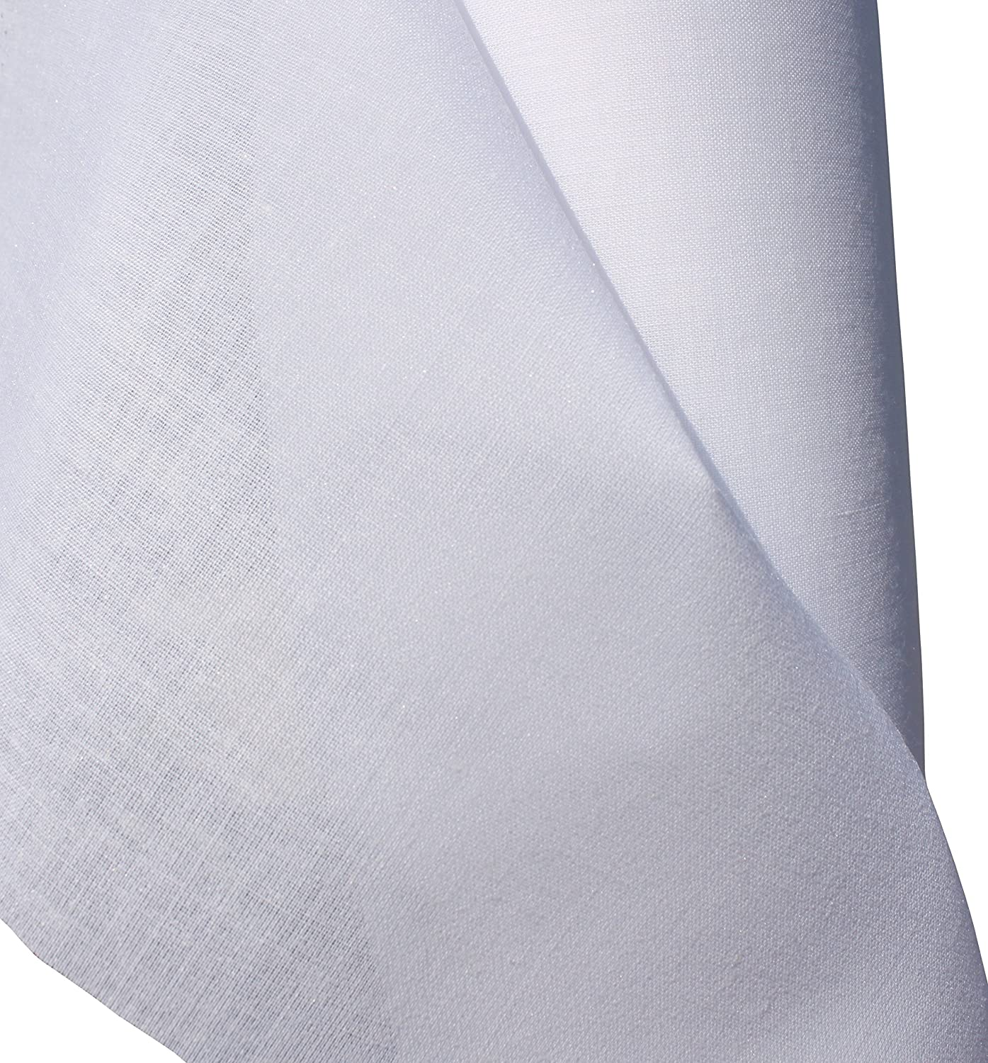 Lucky Brand Iron On Interfacing with Glue Coating Thin White 55 inch x 1 Yard