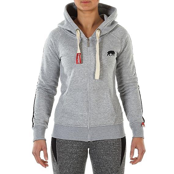 SMILODOX Zip Hoodie Damen Sport Fitness Gym Freizeit Training Kapuzenpullover