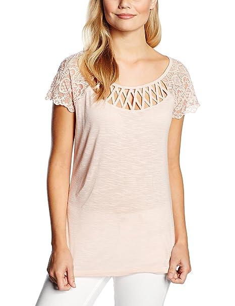 Morgan 161-DICA.N-Camiseta de manga corta para Mujer color Rosa talla