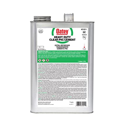 Oatey 31011 PVC Heavy Duty Cement, Clear, Gallon